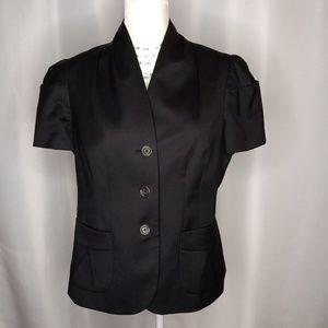 BANANA REPUBLIC Black Wool Blend Blazer Sz 12